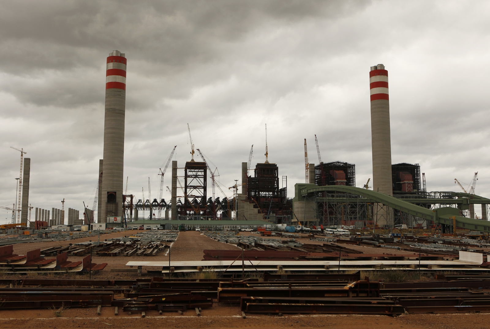 construction site at the Medupi power station in south africa