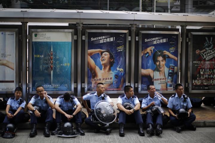 Hong Kong Protests Police