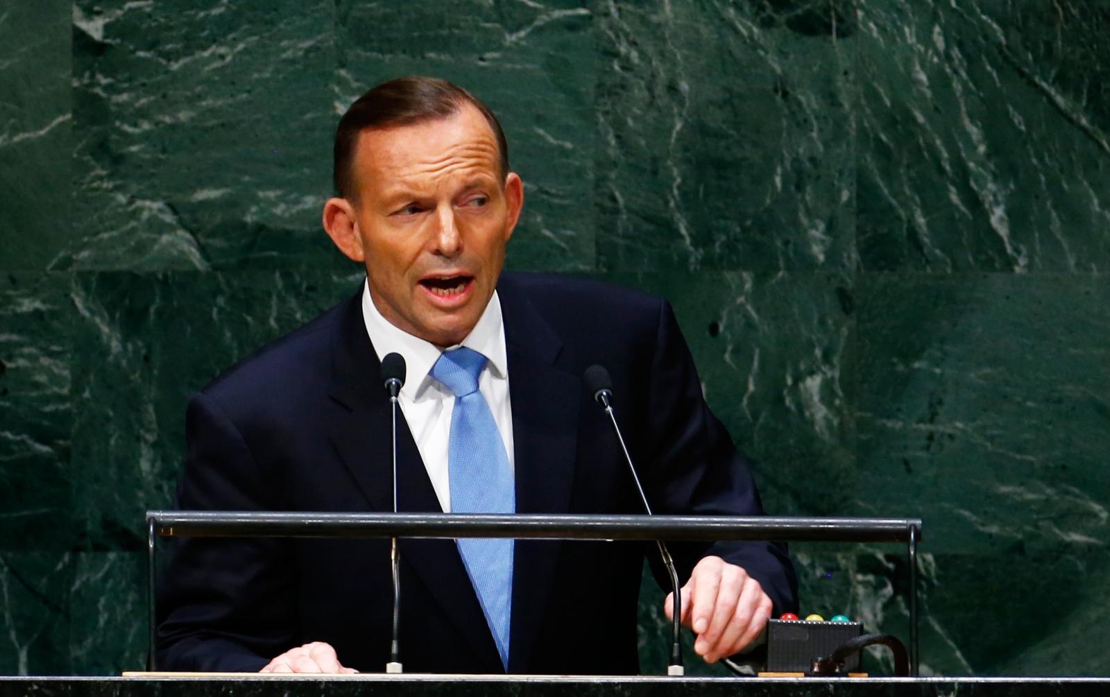 Australia Tony Abbott on Isis