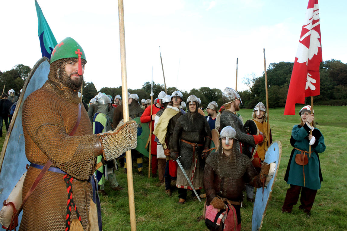 The Count of Baloin's troops, all members of the Crusades re-enactment group