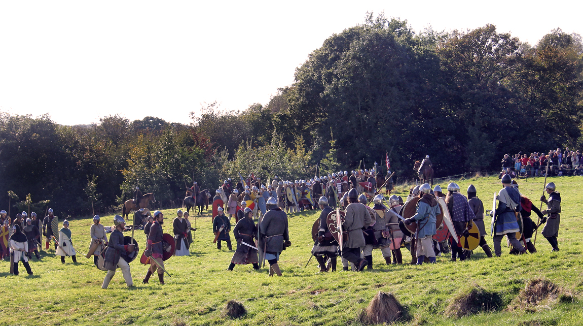 The Anglo-Saxons are enticed to attack the Normans, giving the Normans the opening they need