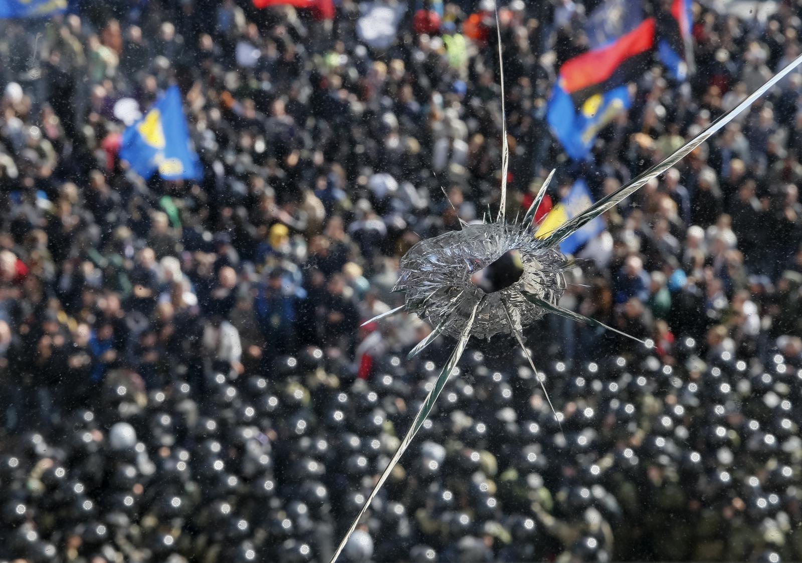 Ukraine Crisis far right clashes kiev