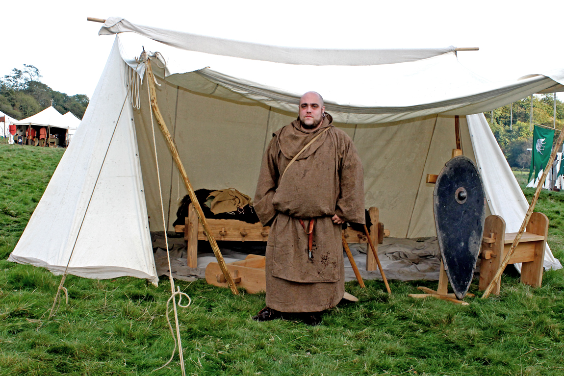 Sam Tophan, also known as Osric, who played a monk who blessed the Anglo-Saxon troops before their battle