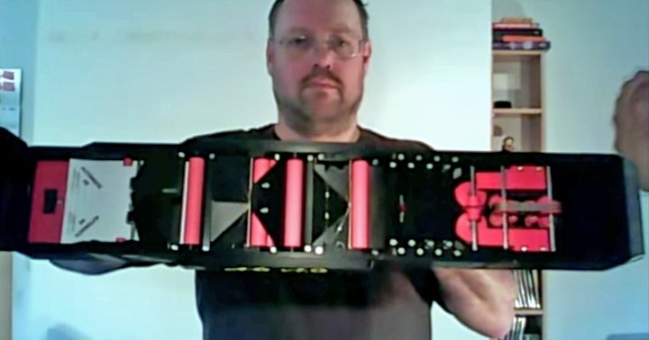 An airplane machine gun, built using 3D-printed components by Dieter Michael Krone