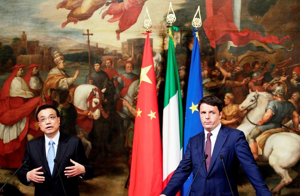 Li Keqiang Matteo Renzi