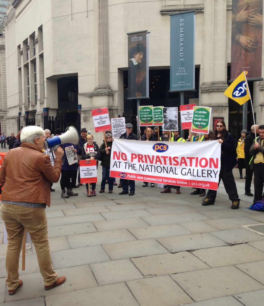 Protest outside of The National Gallery