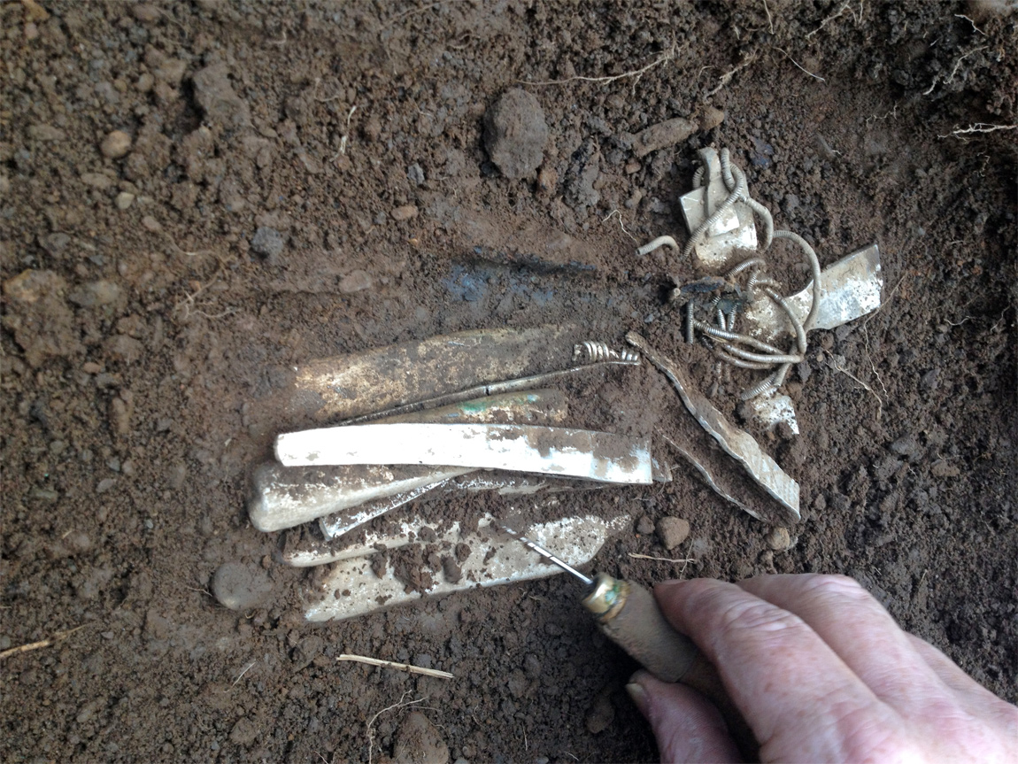 Dumfries and Galloway Council archaeologists carefully excavated the hoard