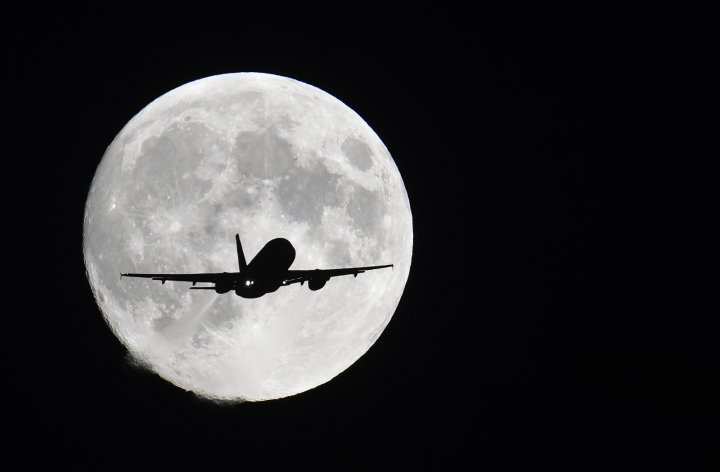 Aircraft and moon