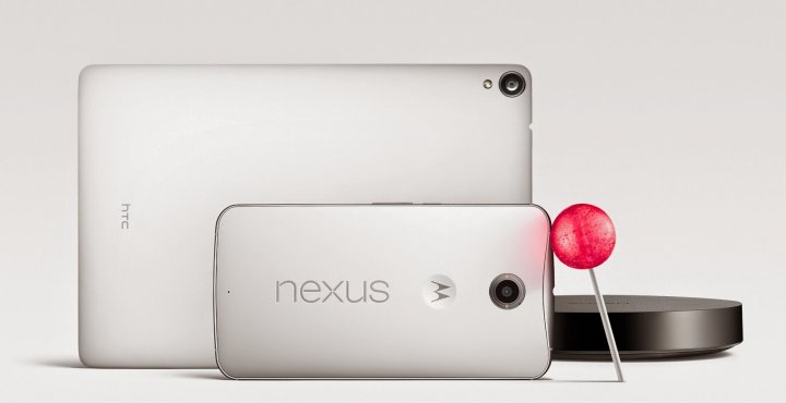 Nexus 6, Nexus 9, and Nexus Player Family with Lollipop