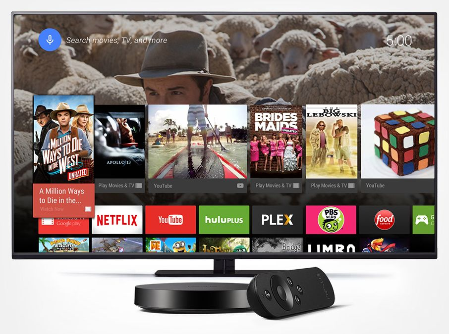 Nexus Player Android TV UI and services