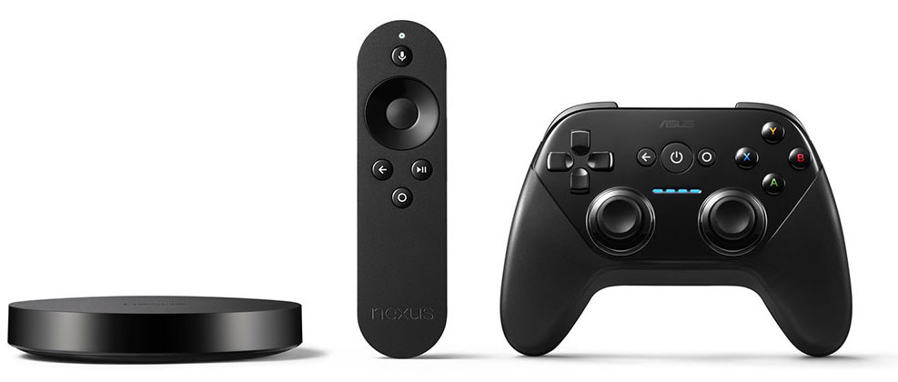 Nexus Player Android TV remote and gamepad