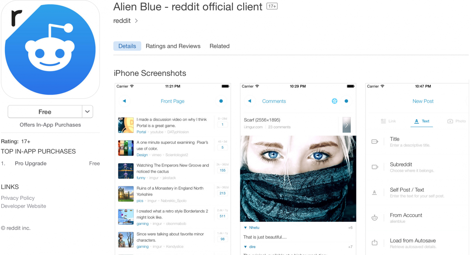 Official Reddit App Launched
