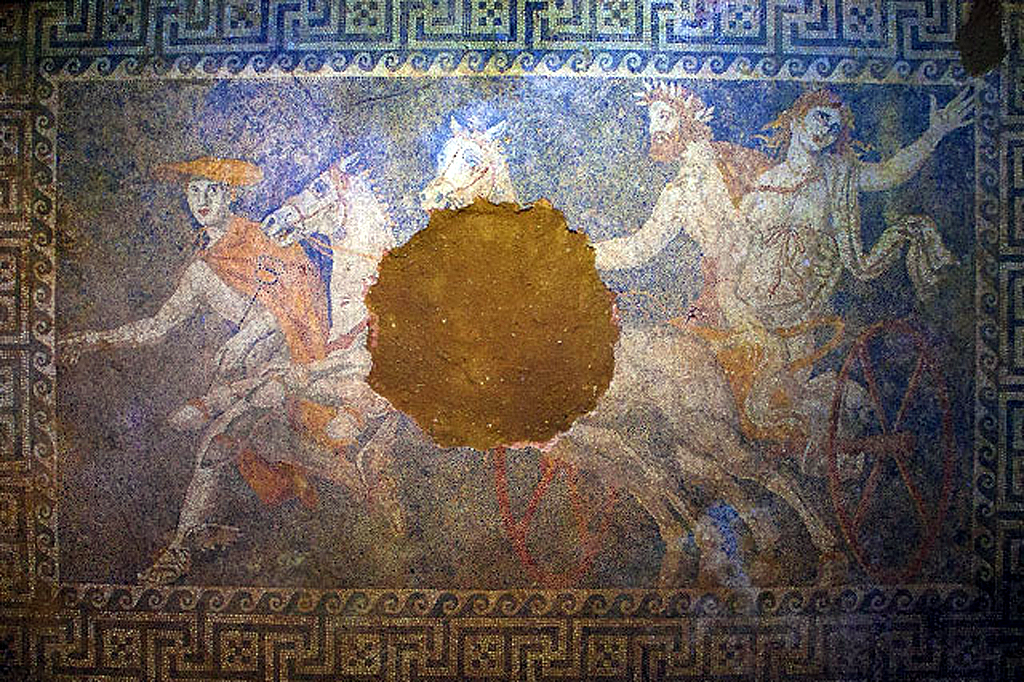 excavated mosaic floor of Persephone