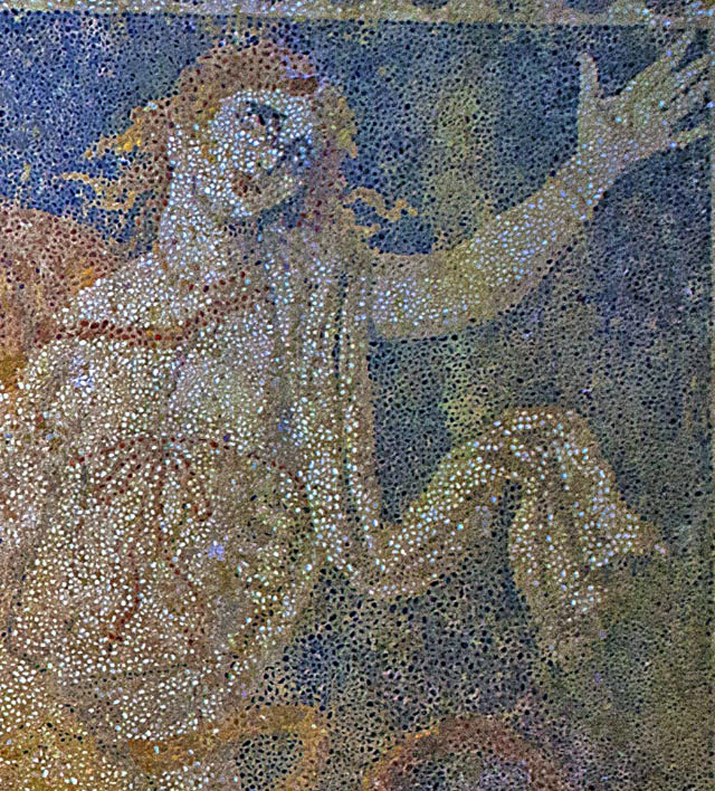 Close-up of Persephone, the daughter of Zeus