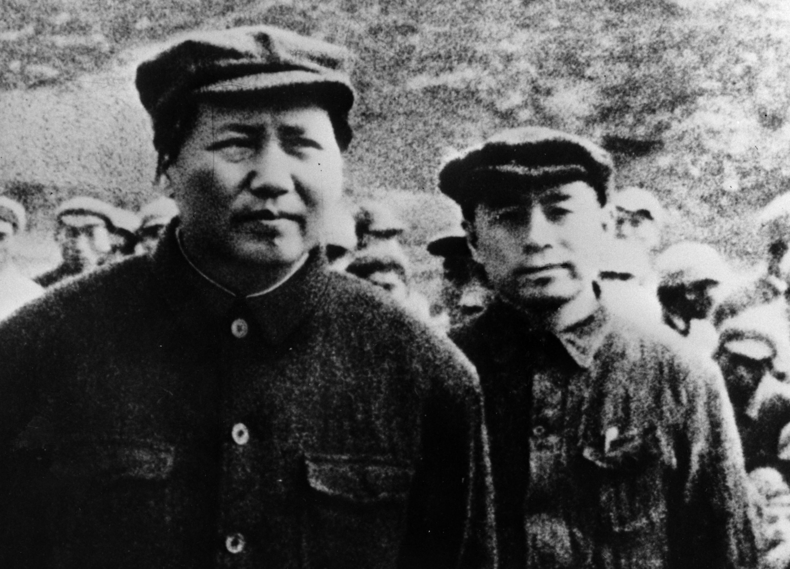 Chinese Communist Party leaders Mao Zedong and Zhou Enlai on The Long March