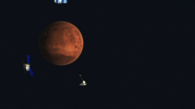 Animation Shows Comet's Close Encounter with Mars