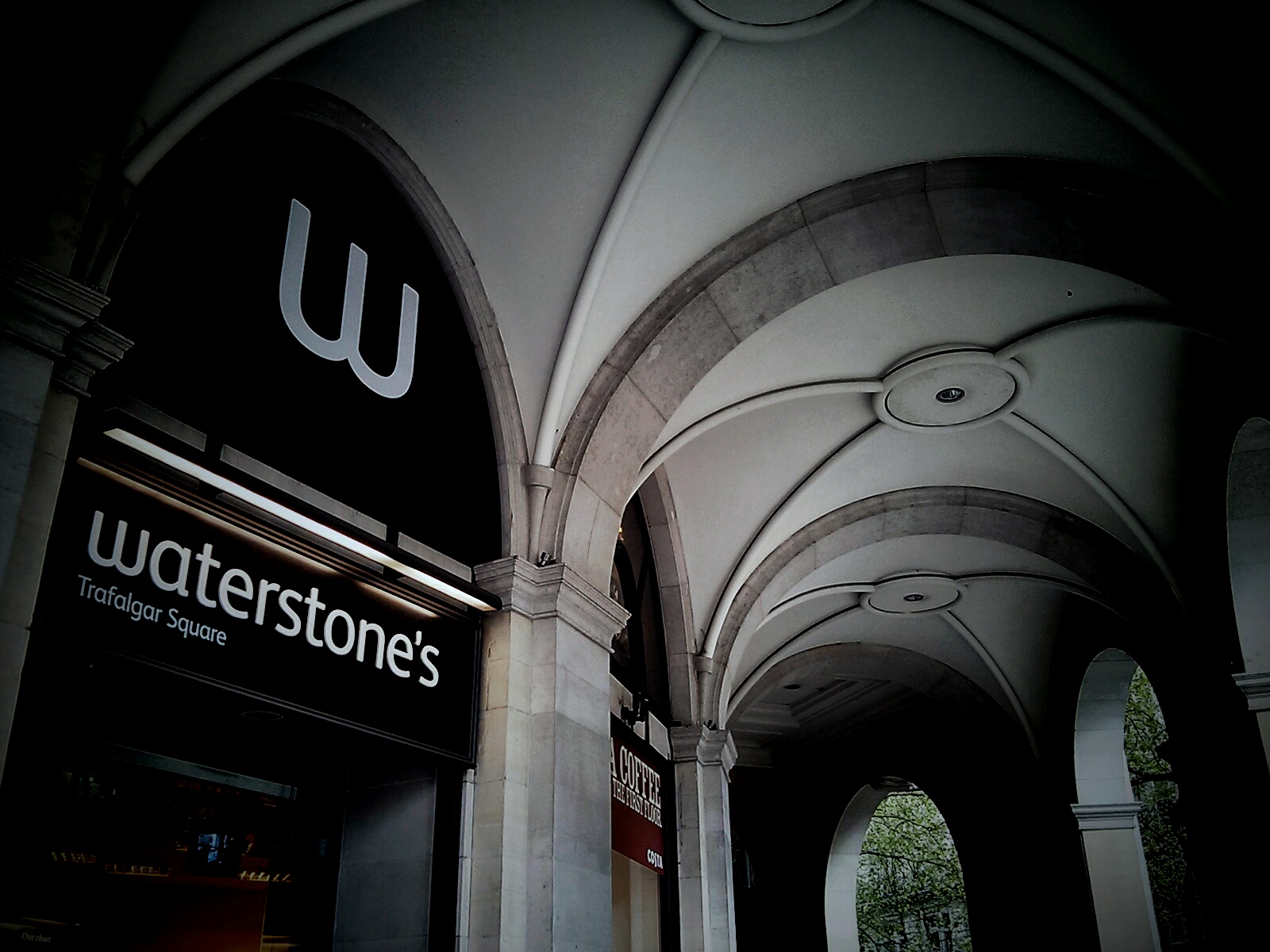 What would you do if you were locked inside Waterstones Trafalgar Square bookshop at night?
