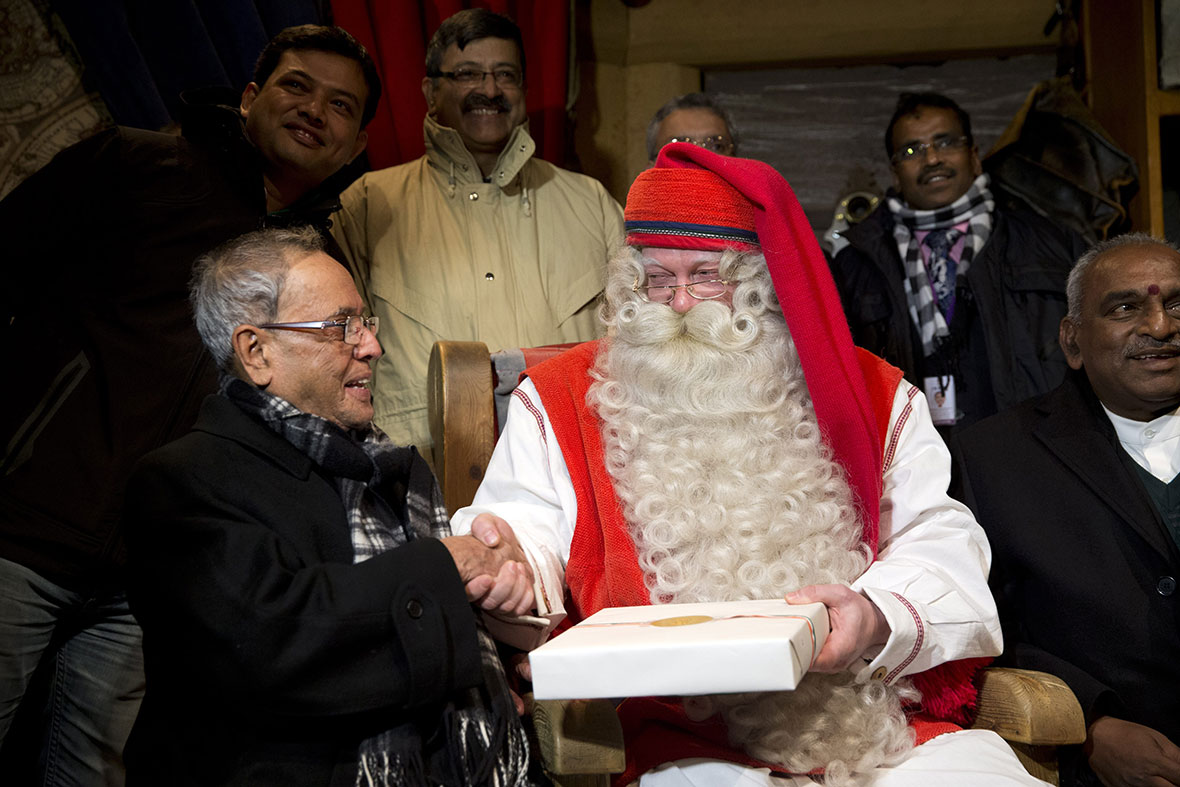 india president santa claus