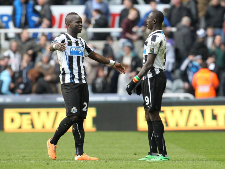 Papiss Cissie and Cheick Tiote