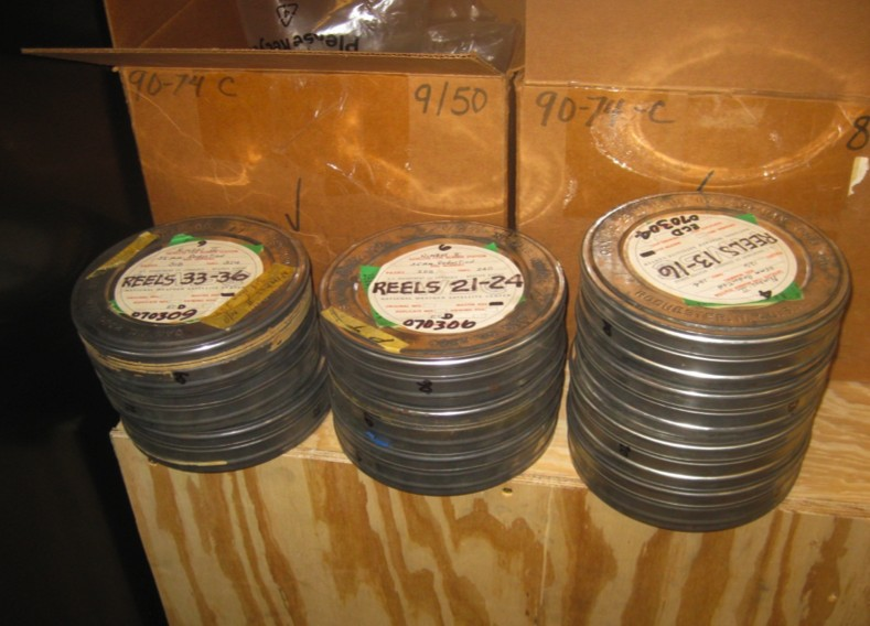 Dusty 35-millimetre film cannisters containing important Arctic satellite images from the Nimbus 1 satellite (1964-1974)