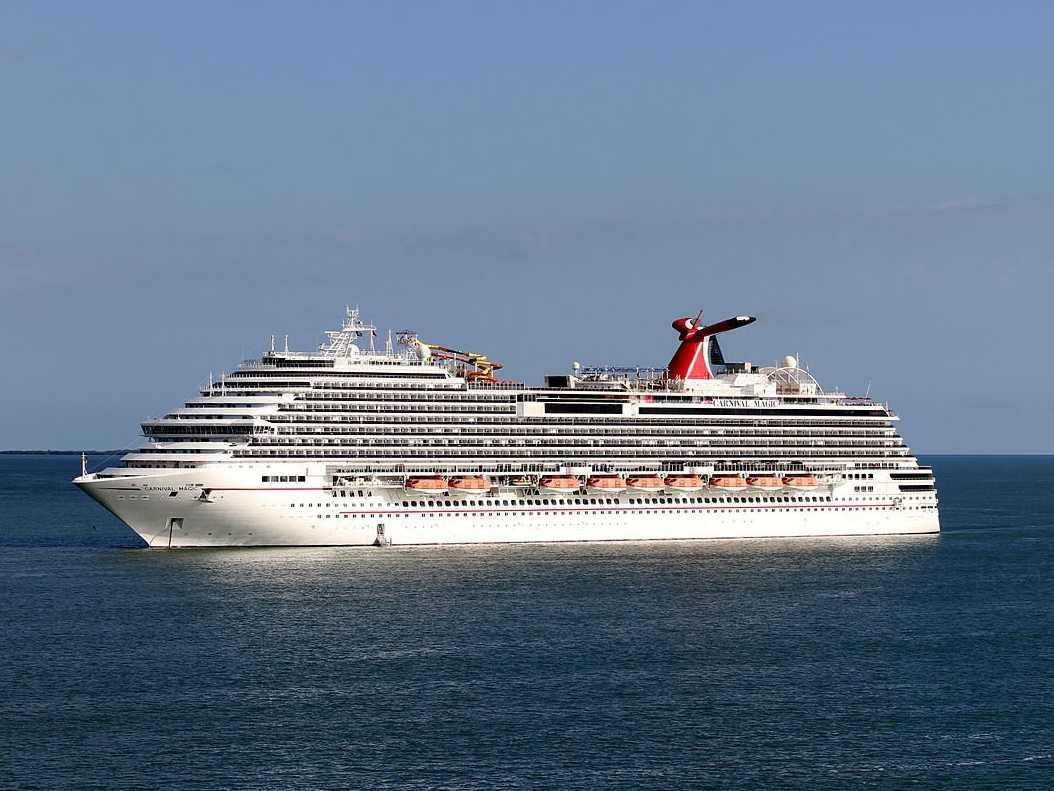 The Carnival Magic cruise ship where a health worker was kept in isolation amid Ebola fears