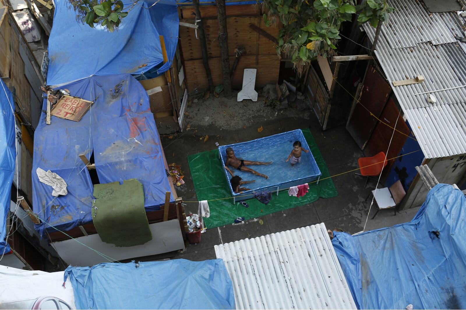 Brazil Factory Slum Pool