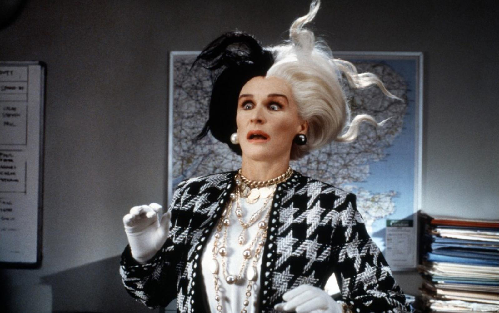 Glenn Close as Cruella De Ville in 101 Dalmatians