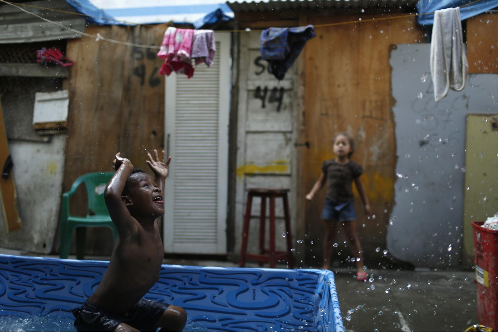 Brazil Factory Slum Pool Boy