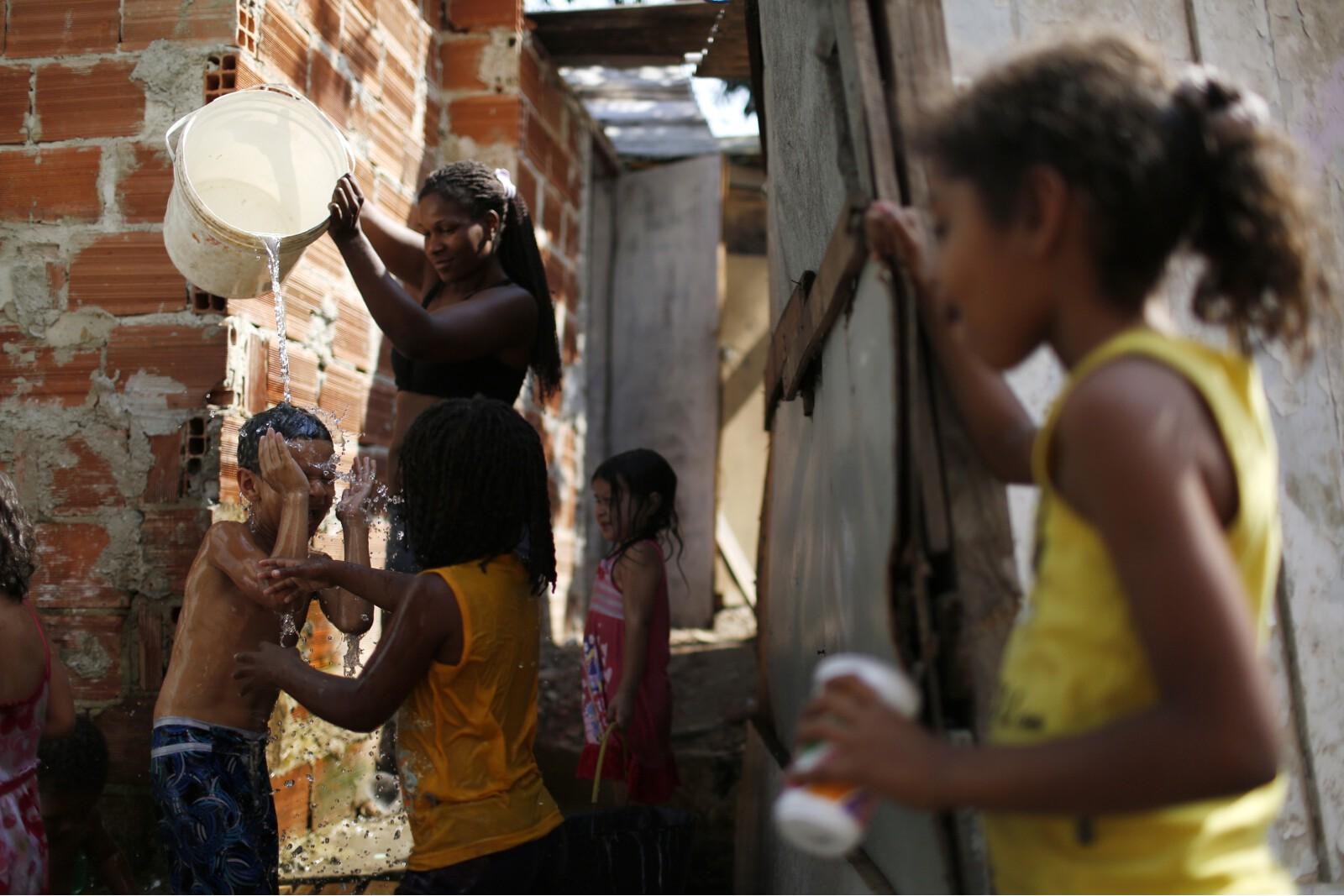 Brazil Factory Slum Children