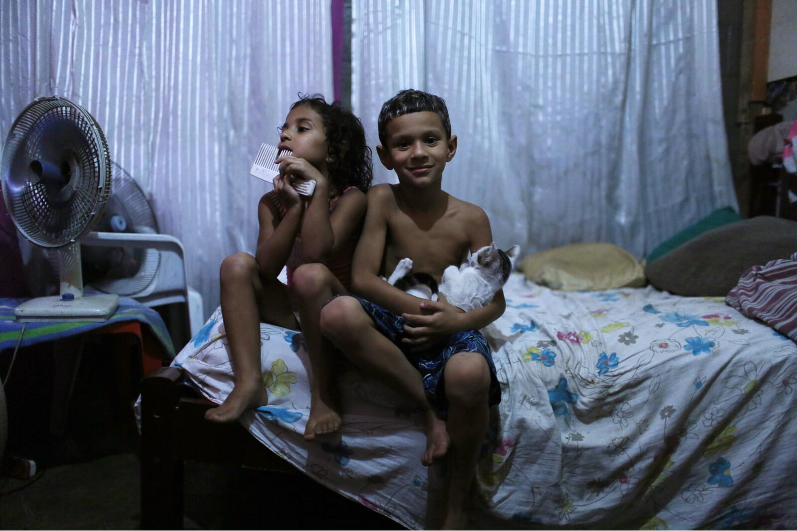 Brazil Factory Slum Boy and Girl