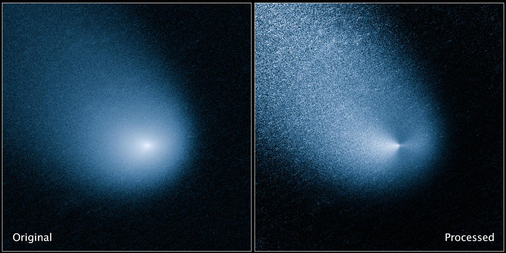 Siding Spring, caught by the Hubble Space Telescope (NASA)