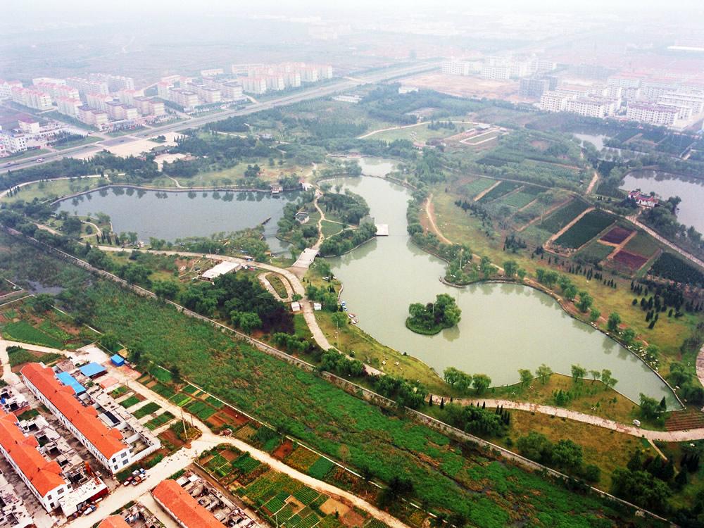 Pingdingshan Hebin Park in Henan province
