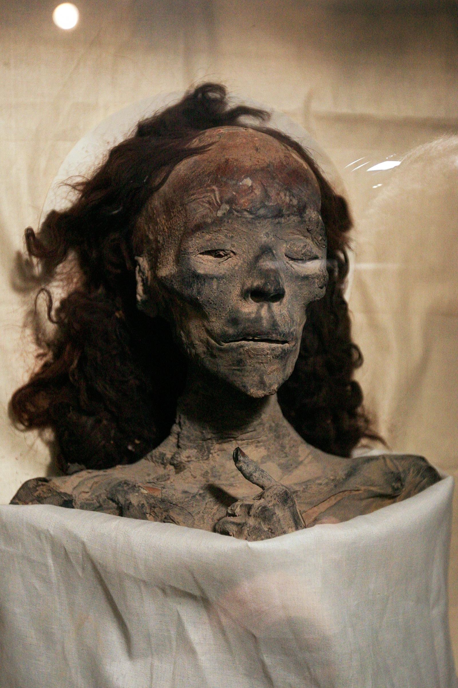 Queen Tiye, Tutankhamuns grandmother, at the Egyptian museum in Cairo