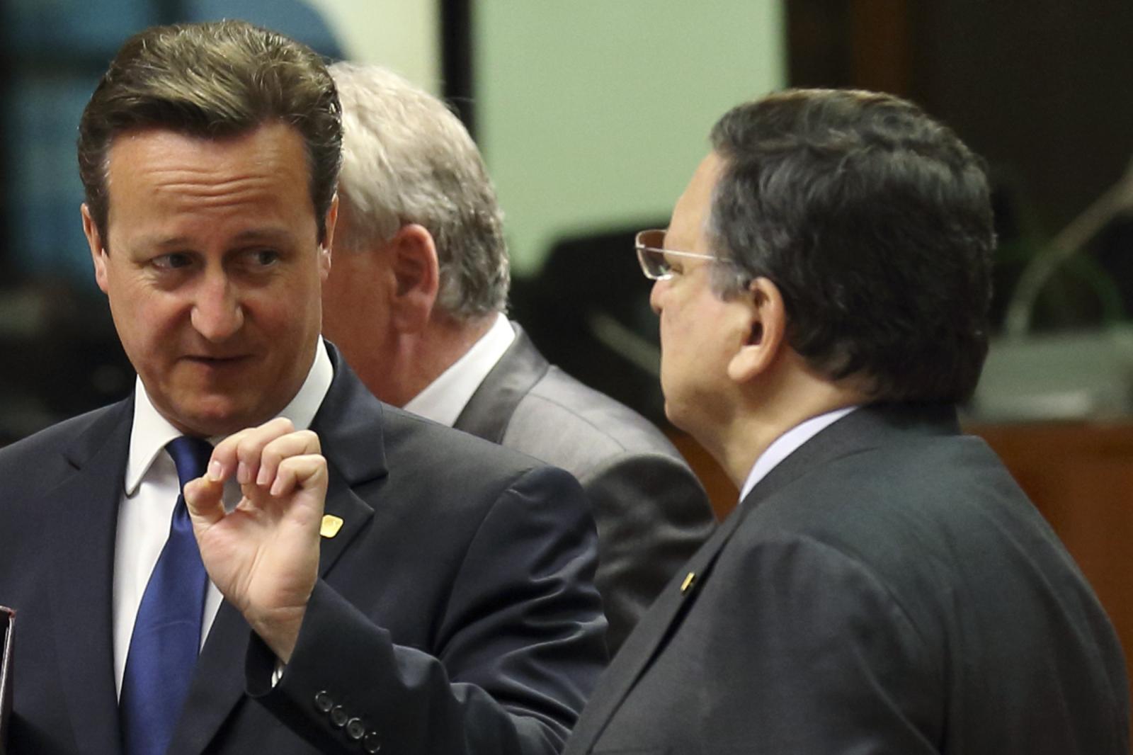 David Cameron and Jose Manuel Barroso