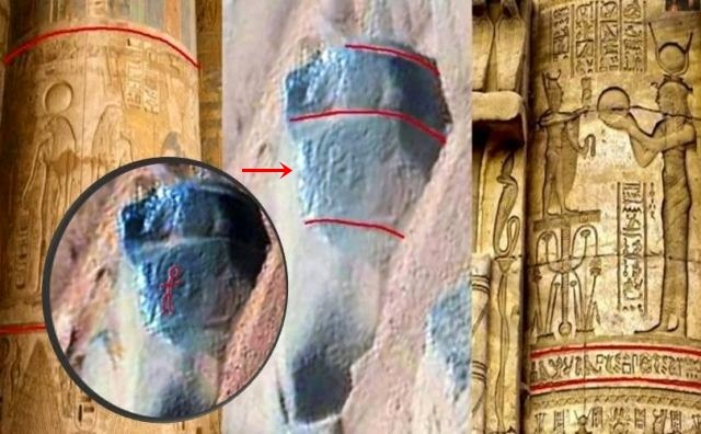 Ancient man rock engravings discovered on mars were they