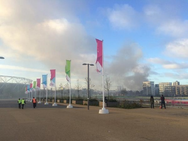 Warehouse fire at Hackney Wick