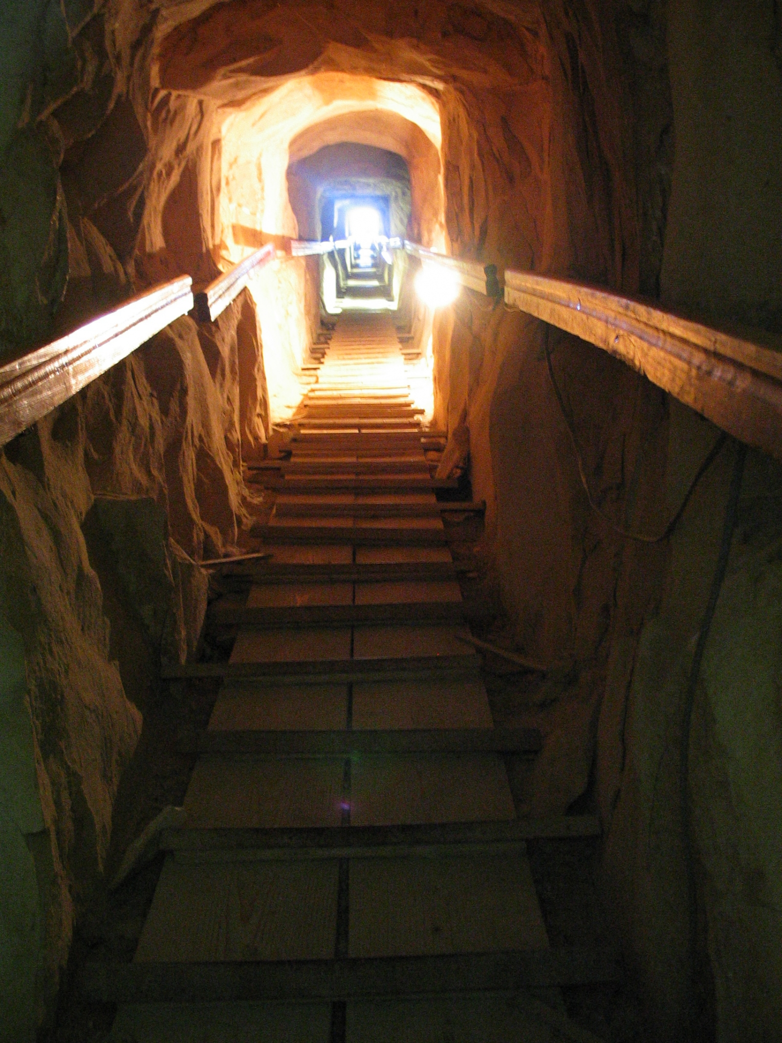 The entrance passageway inside the Meidum Pyramid