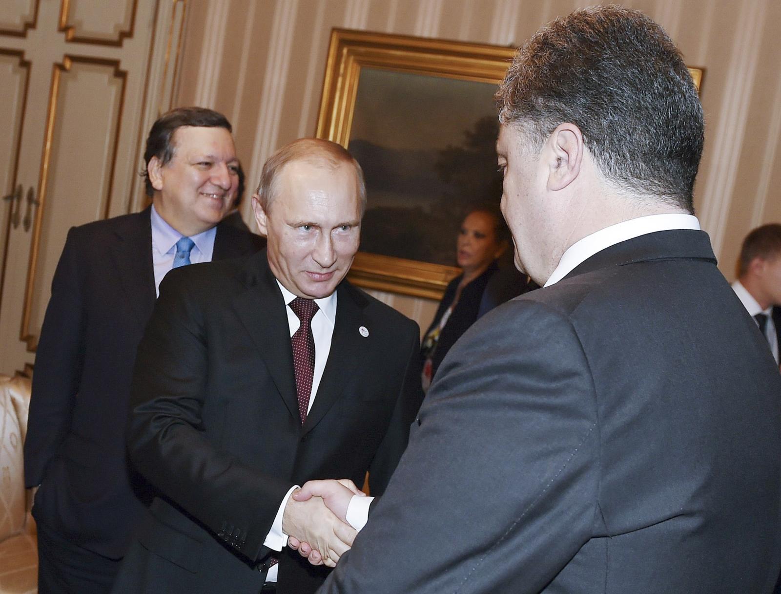Vladimir Putin Petro Poroshenko