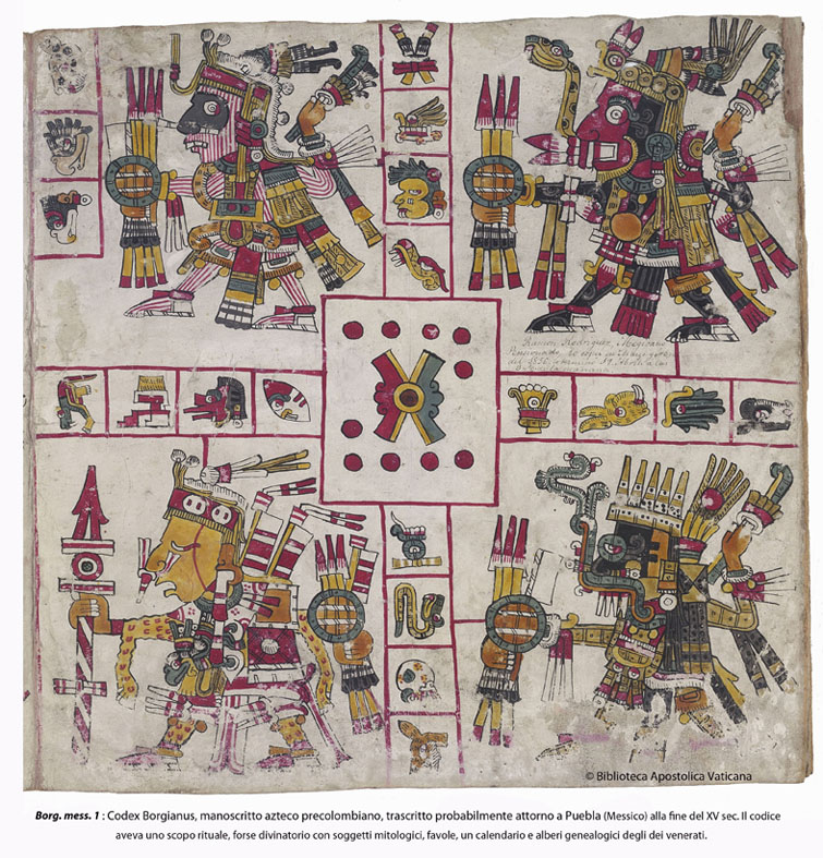 Pre-Columbian Aztec manuscript, written probably near Puebla (Mexico) at the end of the fifteenth century