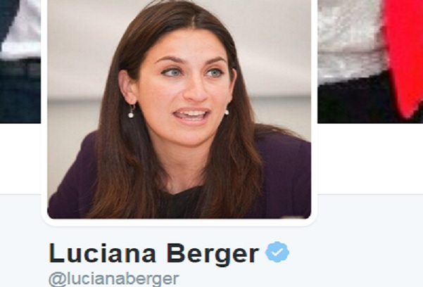 Yellow Star from Adolf's Hitler's Jewish holocaust was stamped to Luciana berger's forehead