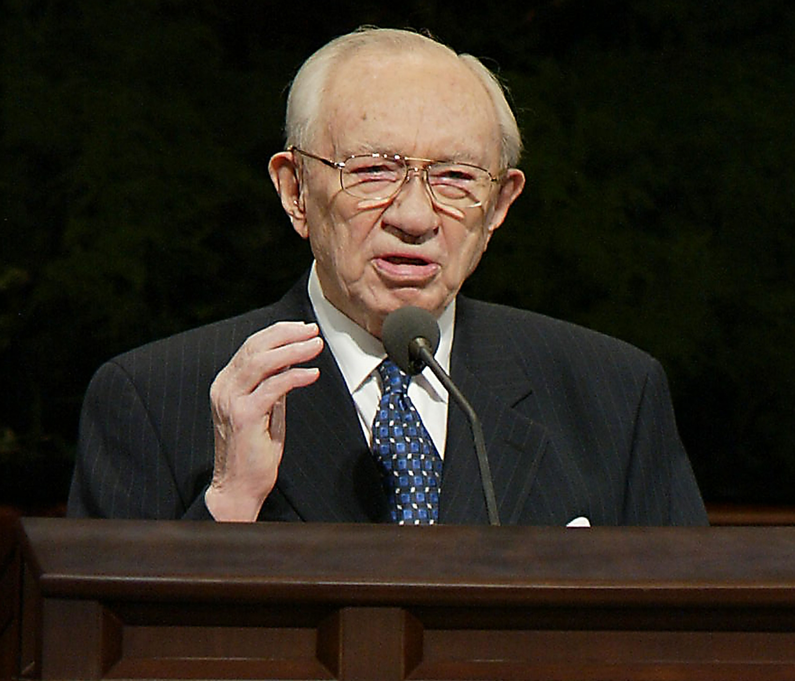 Gordon B. Hinckley, President of the Church of Jesus Christ of Latter Day Saints until his death in 2008