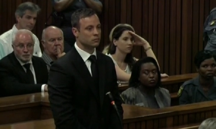 Oscar Pistorius appeared calm as he was jailed for five years, in sharp contrast to his earlier behaviour