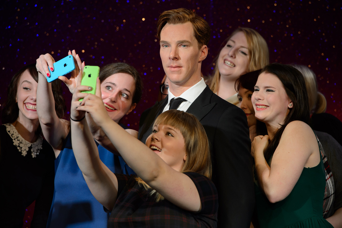 Benedict Cumberbatch fans attend an exclusive viewing of the new Benedict Cumberbatch wax figure