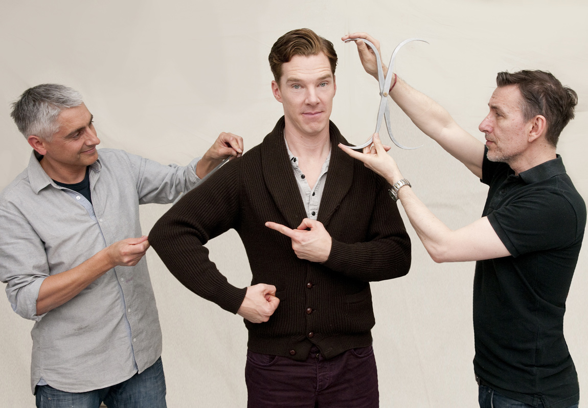 Madame Tussauds artists measured Benedict Cumberbatch for his wax figure in two sittings