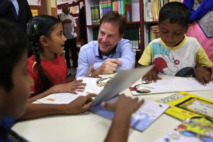 Nick Clegg and children