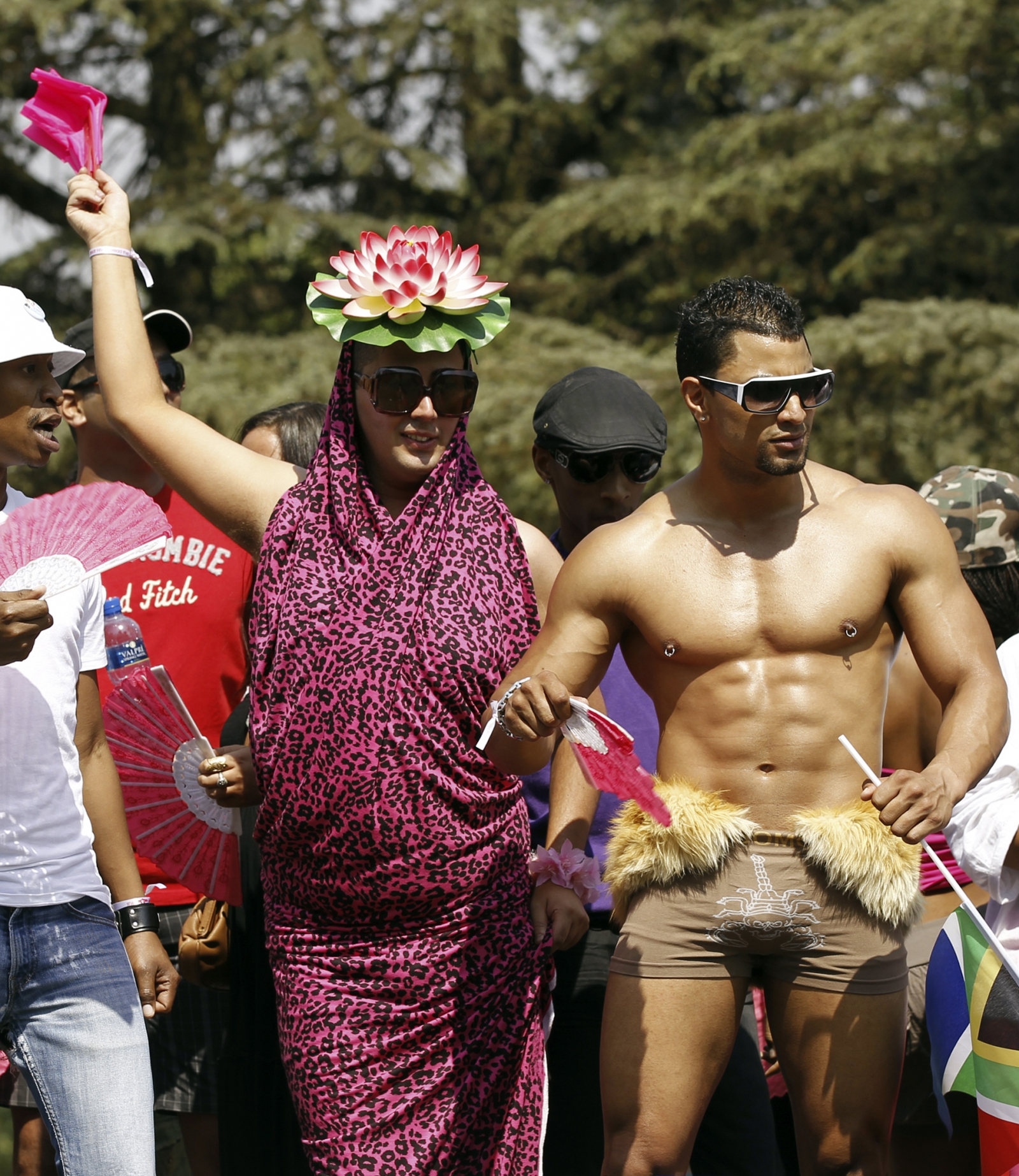 People take part in the Joburg Pride Parade in Johannesburg October 2, 2010