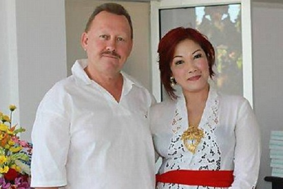 Robert Kelvin Ellis was allegedly killed by his wife  Noor Ellis (left) for infidelity