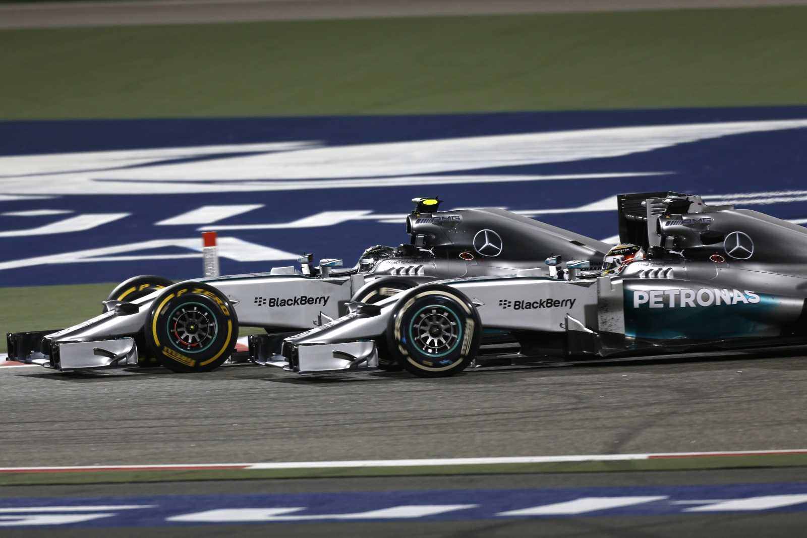 Mercedes AMG F1 cars