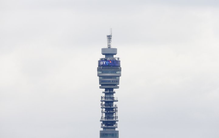 The BT communication tower is seen from Primrose Hill in London April 9, 2013.