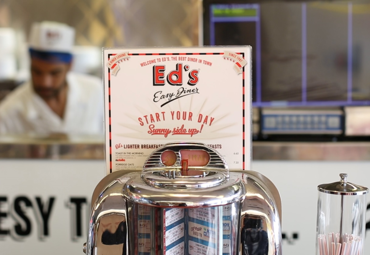 Ed's Easy Diner outside of Euston